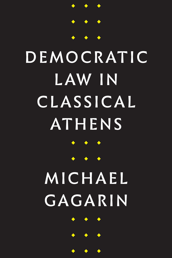 Cover of Democratic Law in Classical Athens