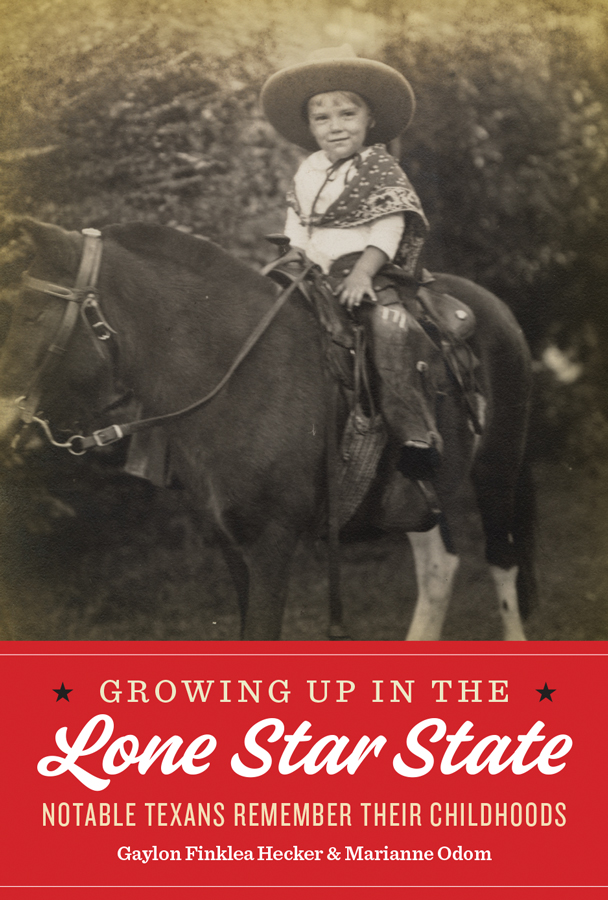 Cover of Growing Up in the Lone Star State