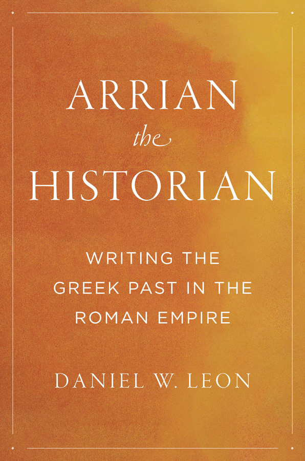 Cover of Arrian the Historian