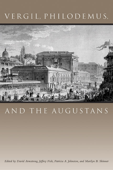 Cover of Vergil, Philodemus, and the Augustans