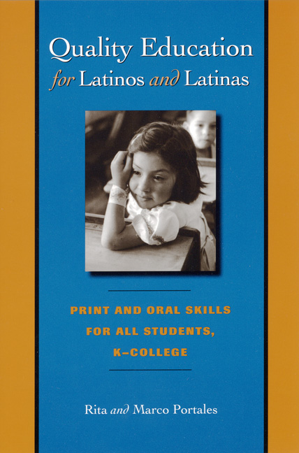 Cover of Quality Education for Latinos/as