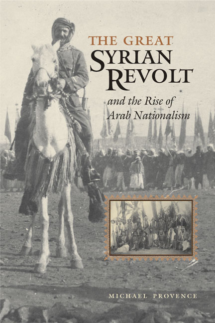 Cover of The Great Syrian Revolt and the Rise of Arab Nationalism