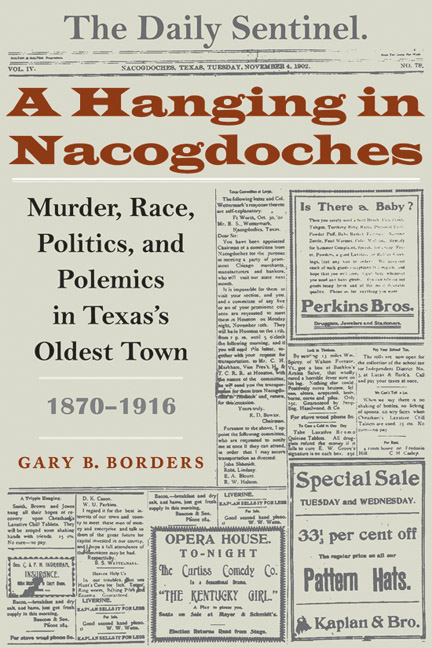 Cover of A Hanging in Nacogdoches