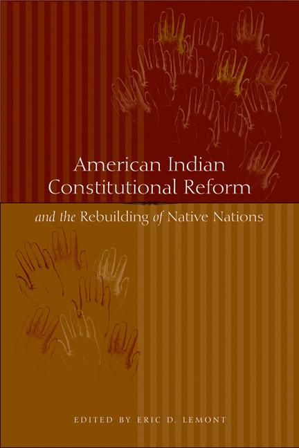 Cover of American Indian Constitutional Reform and the Rebuilding of Native Nations