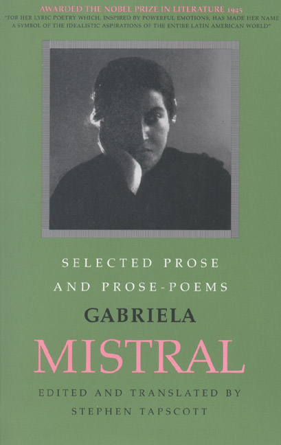 Cover of Selected Prose and Prose Poems