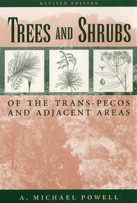 Cover of Trees & Shrubs of the Trans-Pecos and Adjacent Areas