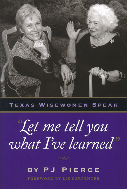 "Cover of ""Let me tell you what I've learned"""