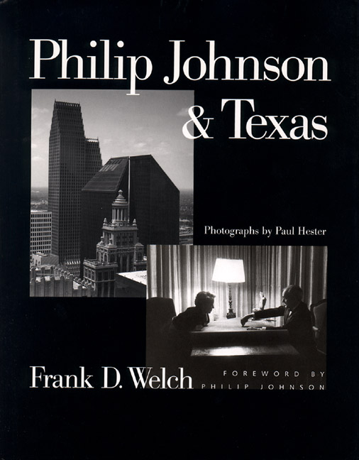 Cover of Philip Johnson & Texas