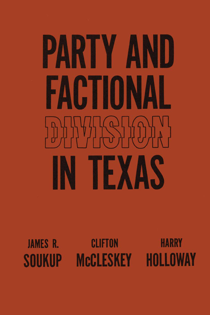 Cover of Party and Factional Division in Texas