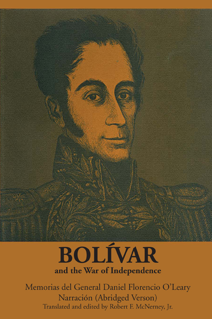 Cover of Bolívar and the War of Independence