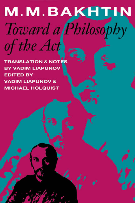 Cover of Toward a Philosophy of the Act