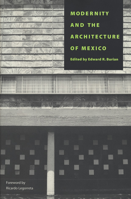 Cover of Modernity and the Architecture of Mexico