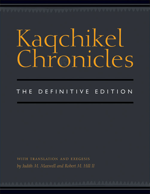 Cover of Kaqchikel Chronicles