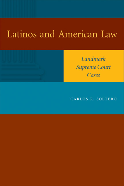 Cover of Latinos and American Law