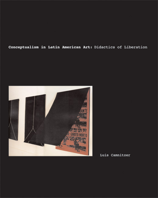 Cover of Conceptualism in Latin American Art