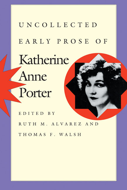 Cover of Uncollected Early Prose of Katherine Anne Porter