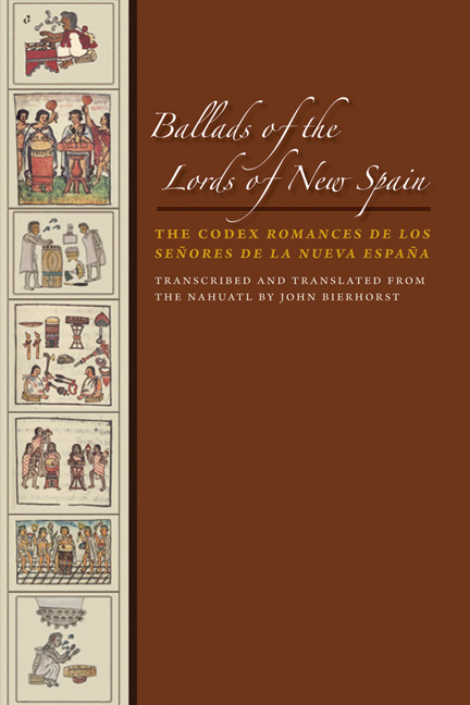 Cover of Ballads of the Lords of New Spain