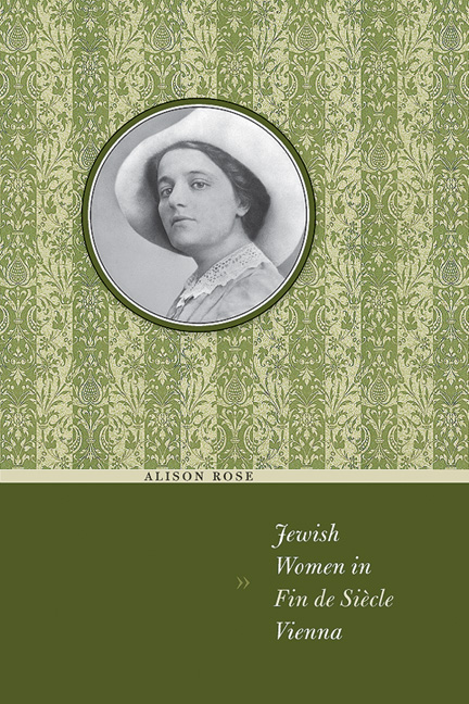 Cover of Jewish Women in Fin de Siècle Vienna
