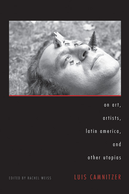 Cover of On Art, Artists, Latin America, and Other Utopias