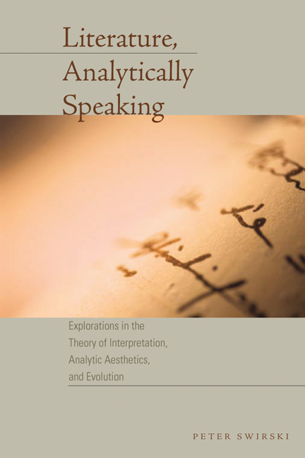 Cover of Literature, Analytically Speaking