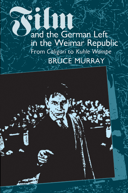 Cover of Film and the German Left in the Weimar Republic