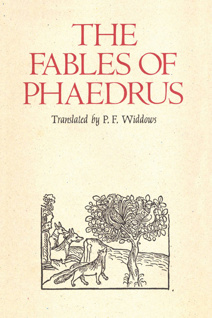 Cover of The Fables of Phaedrus
