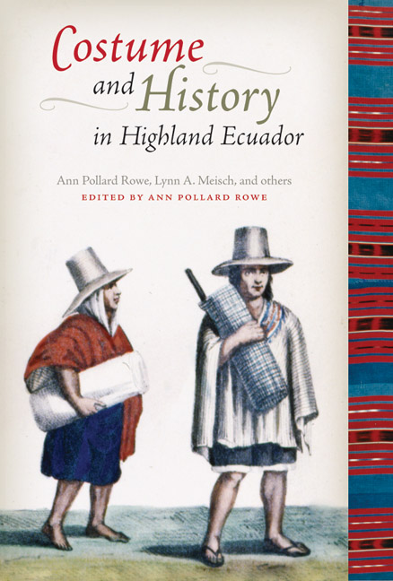Cover of Costume and History in Highland Ecuador