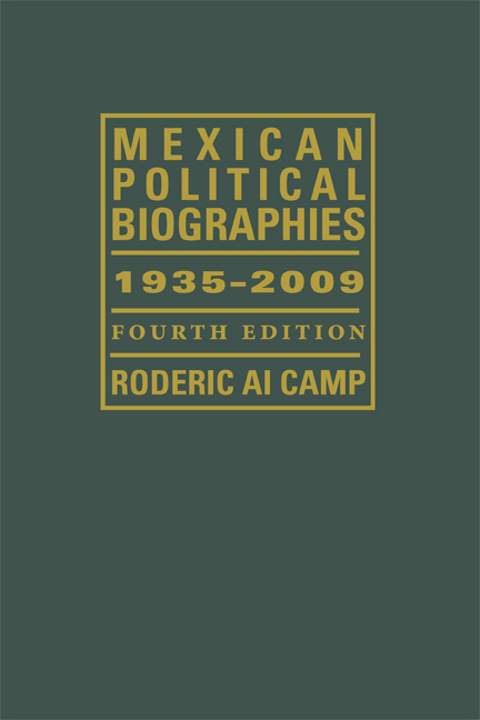Cover of Mexican Political Biographies, 1935–2009