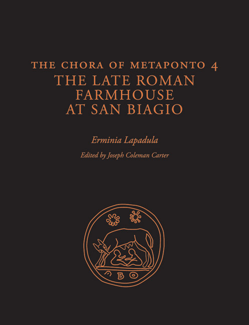Cover of The Chora of Metaponto 4