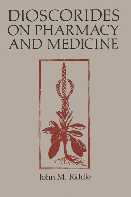 Cover of Dioscorides on Pharmacy and Medicine