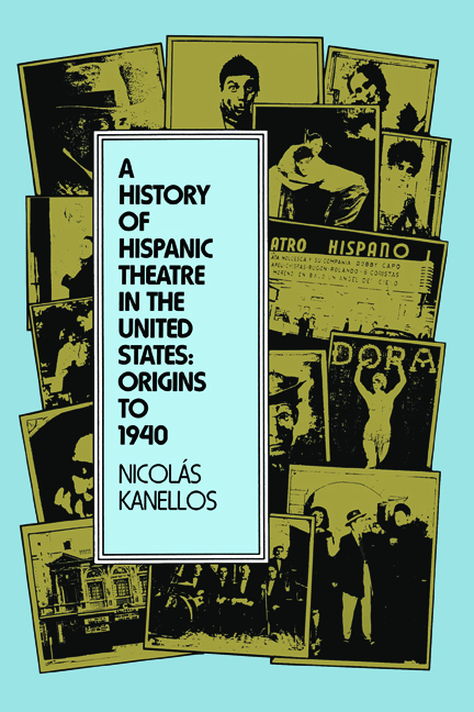 Cover of A History of Hispanic Theatre in the United States