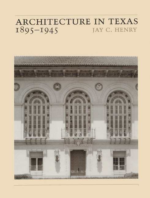 Cover of Architecture in Texas