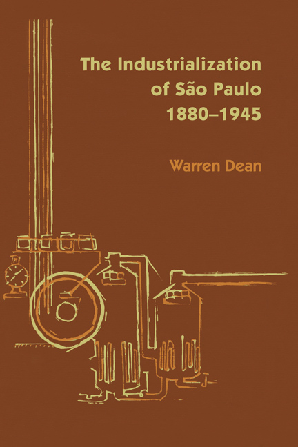 Cover of The Industrialization of São Paulo, 1800-1945