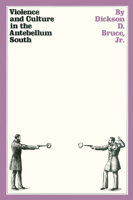 Cover of Violence and Culture in the Antebellum South