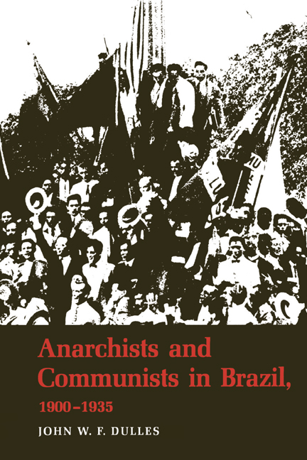 Cover of Anarchists and Communists in Brazil, 1900-1935