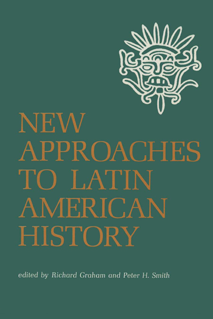 Cover of New Approaches to Latin American History