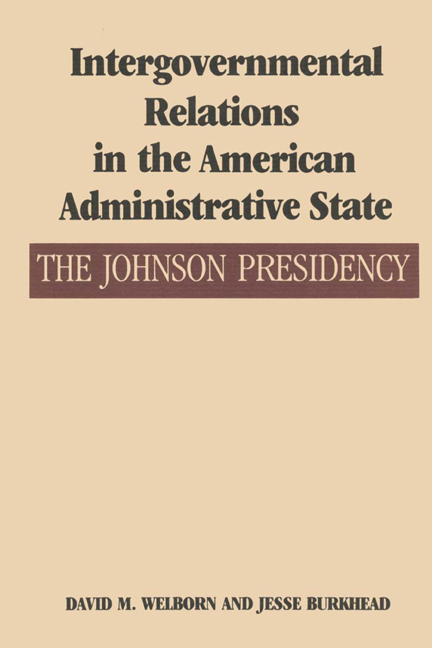 Cover of Intergovernmental Relations in the American Administrative State