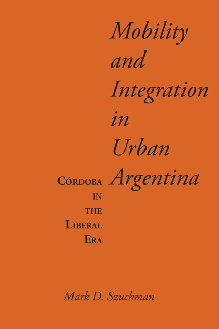 Cover of Mobility and Integration in Urban Argentina