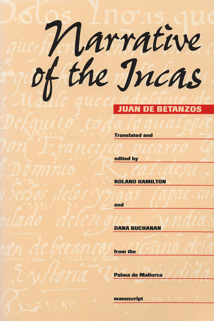 Cover of Narrative of the Incas