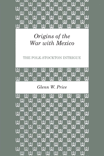 Cover of Origins of the War with Mexico