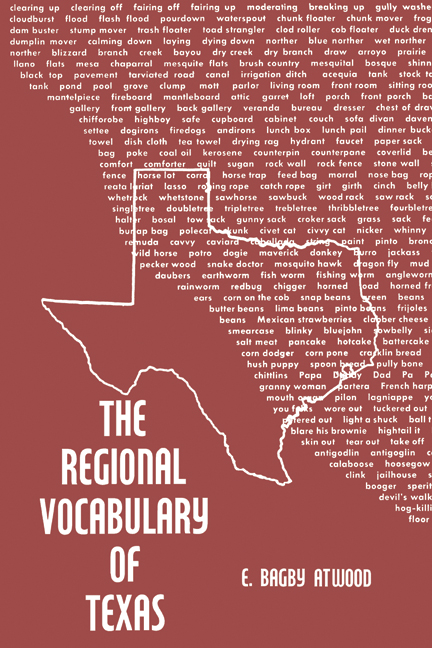 Cover of The Regional Vocabulary of Texas