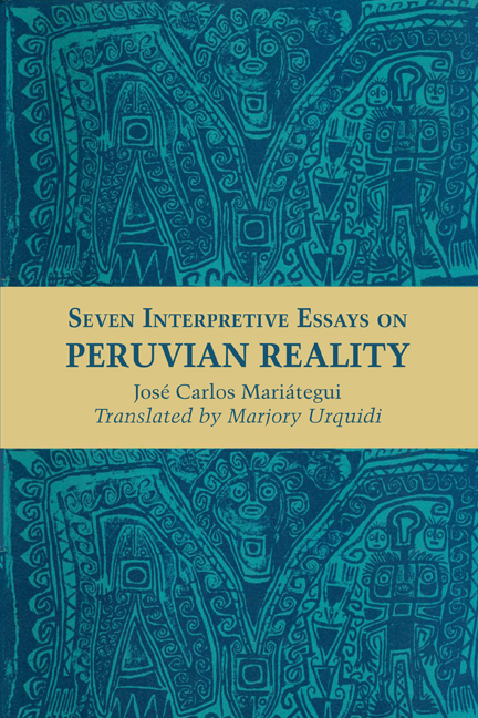 seven interpretive essays on vian reality by jose carlos  cover of seven interpretive essays on vian reality