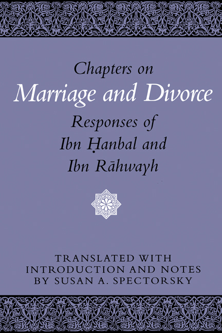 Cover of Chapters on Marriage and Divorce