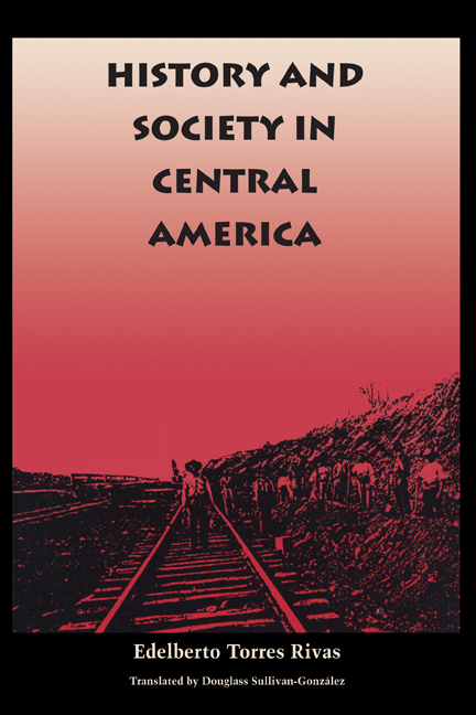 Cover of History and Society in Central America