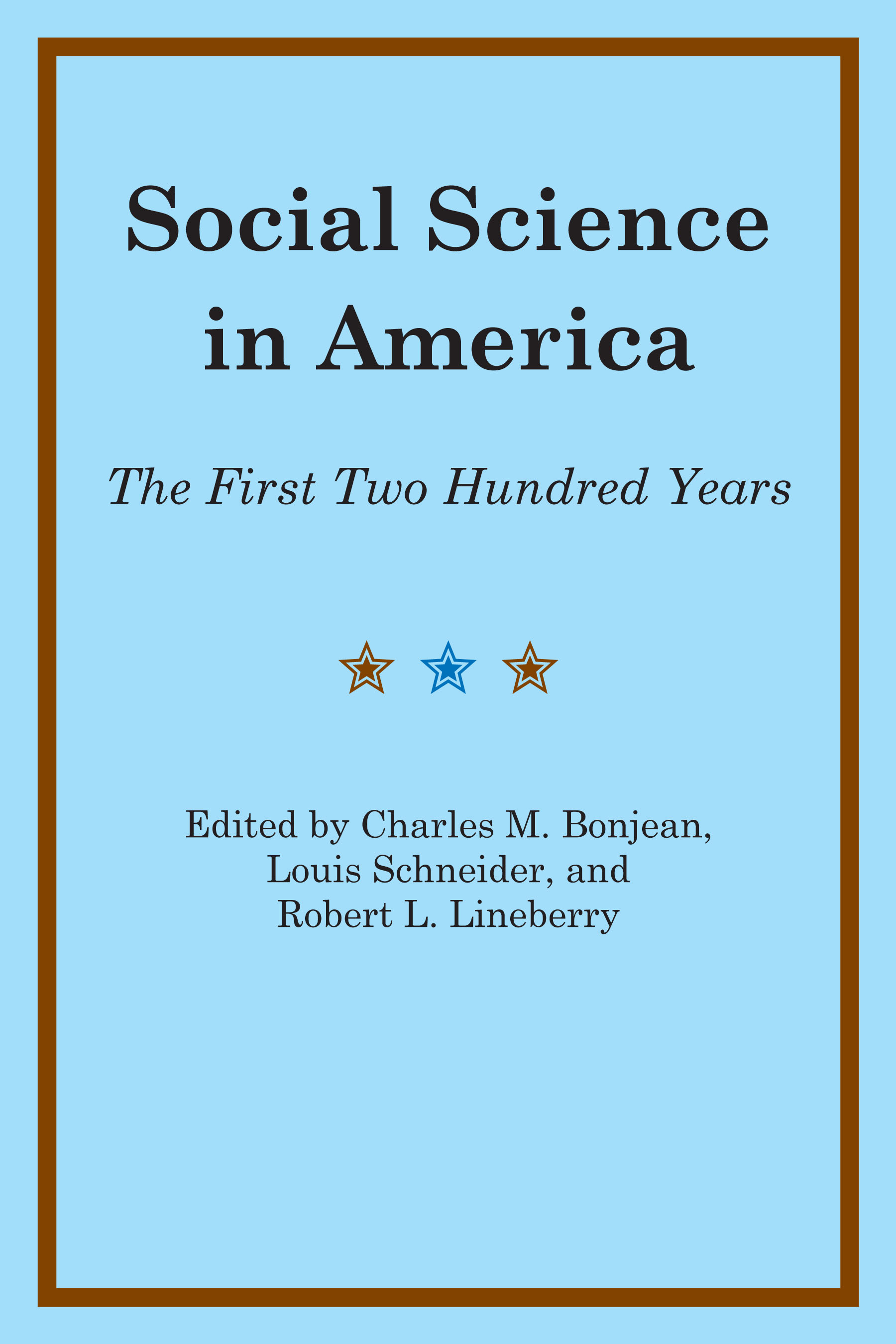 Cover of Social Science in America