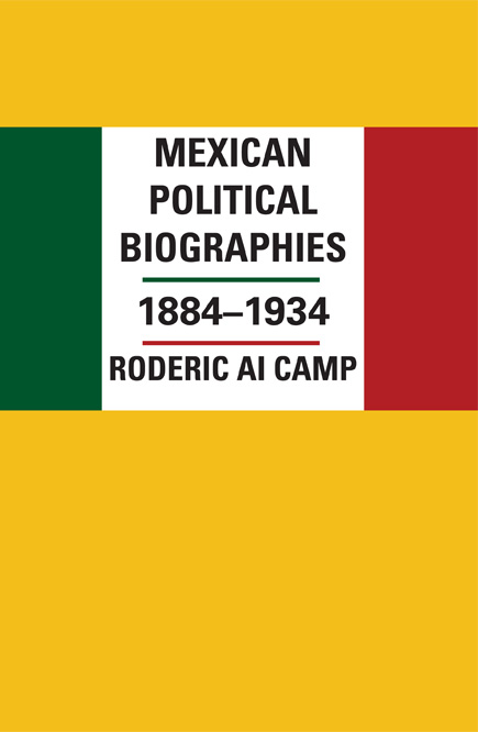 Cover of Mexican Political Biographies, 1884-1934