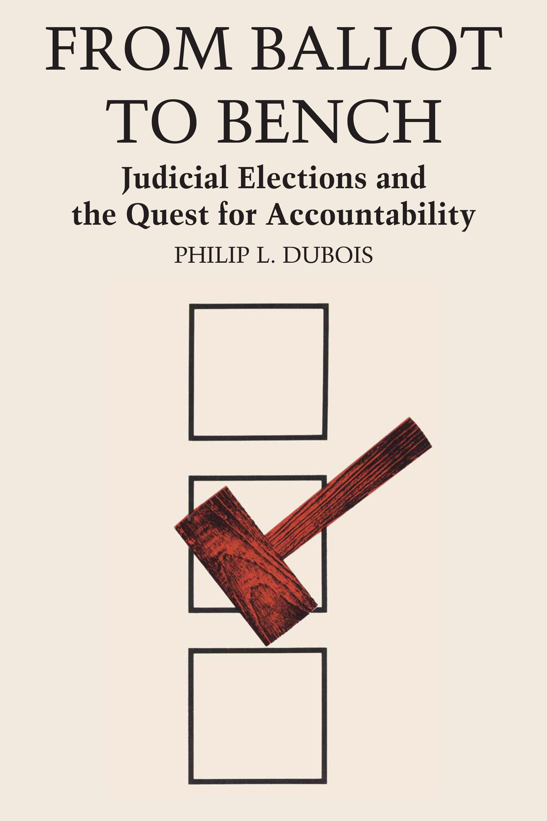 Cover of From Ballot to Bench