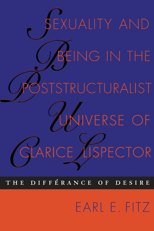 Cover of Sexuality and Being in the Poststructuralist Universe of Clarice Lispector