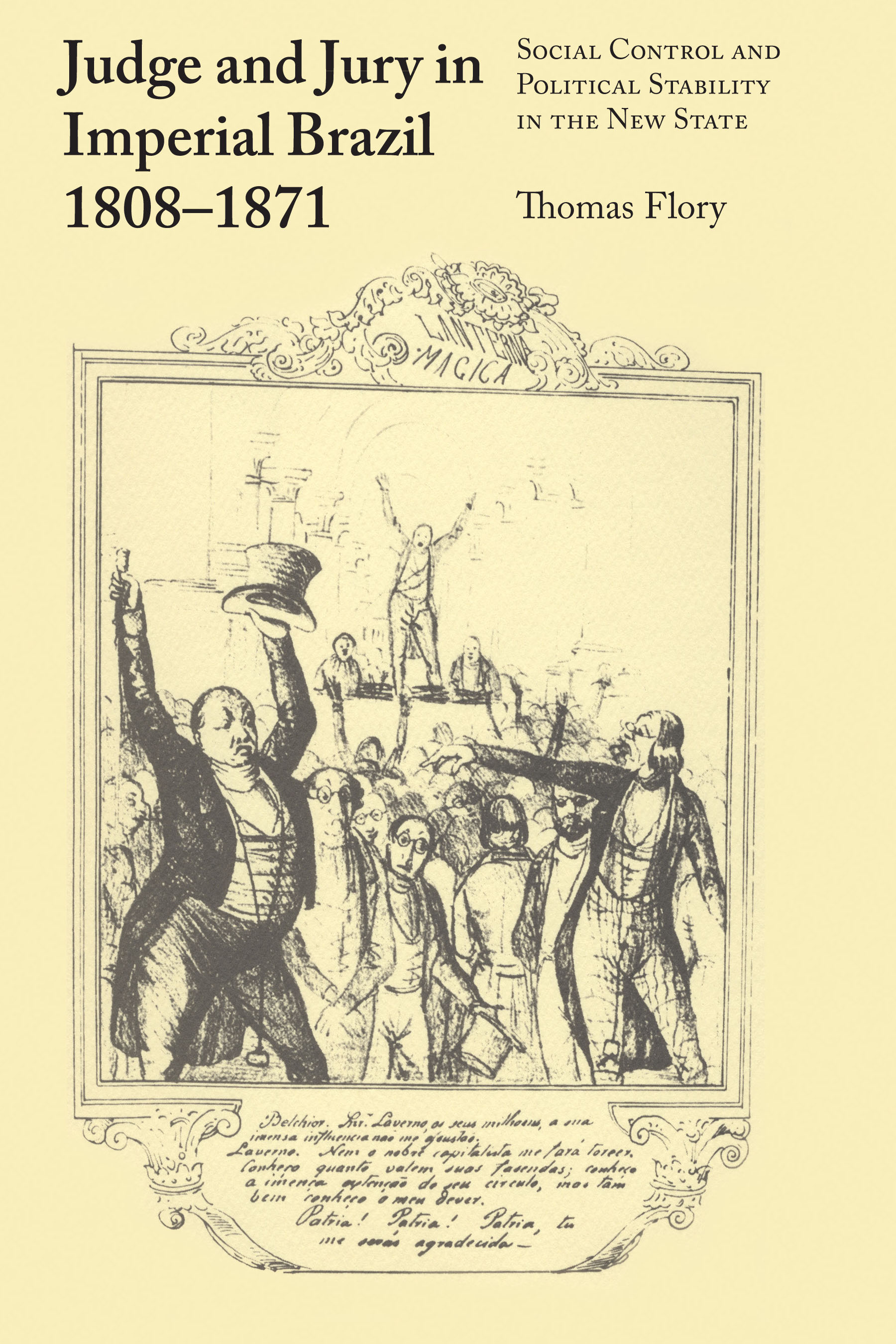 Cover of Judge and Jury in Imperial Brazil, 1808–1871