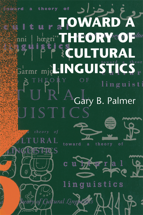 Cover of Toward a Theory of Cultural Linguistics